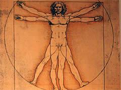 Leonardo Zeichnung der Vitruvianische Mensch